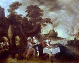 Francken II, Loth et ses filles