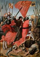 Anonyme, Saint Jacques combattant les Maures