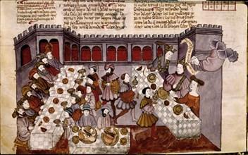 Bible d'Albe: Festin de Balthazar