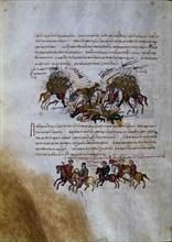 Skylitzès, Combat entre byzantins et arabes