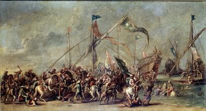 Toledo (de), Débarquement et Combat