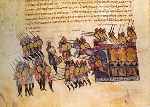 Skylitzes, Combat entre les byzantins et les arabes