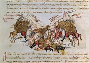 Skylitzès, Bataille entre les Byzantins et les Arabes