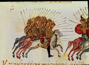 Skylitzès, Guerriers à cheval poursuivis