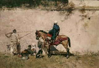Fortuny, Marocains devant une muraille
