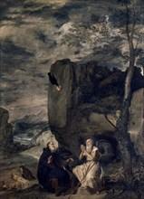 Vélasquez, Saint Antoine abbé et Saint Paul ermite
