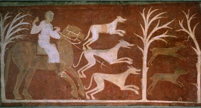 Peintures murales de San Baudelia de Berlanga: chasse aux lièvres