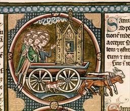 Auvergne, Bible de saint Louis (Restitution de l'arche à Israël)