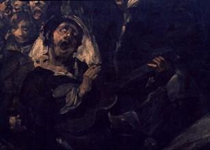 Goya, Le pèlerinage de Saint Isidro (détail guitariste)