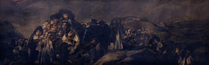 Goya, Le pèlerinage de Saint Isidro (détail)