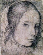 Velázquez, Drawing of a woman's face