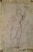 Velázquez, Drawing of a soldier from the back