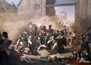 Castellanos, La défense du parc d'artillerie de Montéléon (détail)