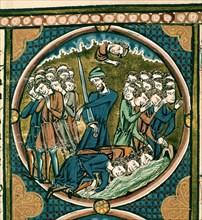 Bible de saint Louis - Victoire de Gédéon sur Madian