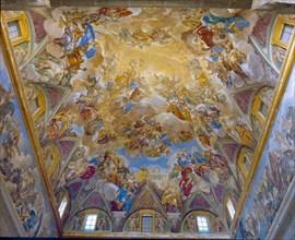 Giordano, Coupole de l'escalier principal de l'Escurial (intérieur)