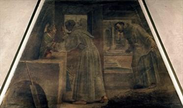 Carracci, Diego d'Alcalà sauve le garçon dormant dans le four