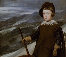 Vélasquez, Le prince Baltasar Carlos, chasseur (détail)