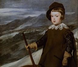 Velázquez, Portrait of prince Baltasar Charles, hunter (detail)