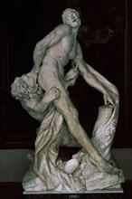 Puget, Sculpture forte en marbre de Carrare - Milon de Crotone