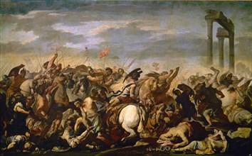 Falcone, Bataille entre romains et barbares