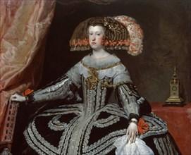 Velázquez, Queen Mariana of Austria (detail)