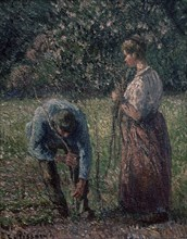 Pissarro, Les rameurs de pois