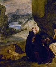 Vélasquez, Saint Antoine abbé et Saint Paul ermite (détail)