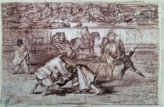 Goya, Pepe Illo détournant l'attention du taureau