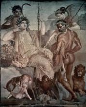 Héraclès retrouve son fils Télèphe en Arcadie