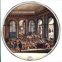 Gravure, Le peuple envahit les Tuileries