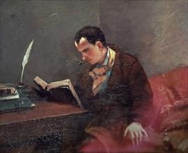 Courbet, Portrait de Baudelaire
