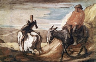 Daumier, Don Quichotte et Sancho Panza