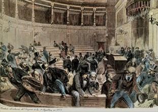 Miranda y Capuz, Dissolution du congrès de la Ière République
