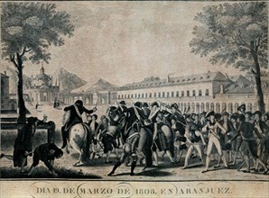 Le soulèvement d'Aranjuez le 19 mars 1808