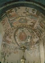 Peintures romanes d'une église du 12e siècle