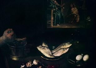 Vélasquez, Le Christ dans la maison de Marthe et Marie (détail)