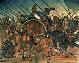 Bataille d'Issos entre Alexandre le Grand et Darius III (détail)