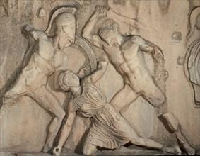 Bataille des Grecs et des Amazones