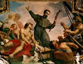 Carlone, La prédication de saint François Xavier