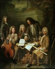 Levrac-Tournières, Lully, La Barre et des musiciens
