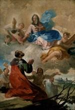 Goya, Apparition de la vierge du Pilar à Saint Jacques de Compostelle