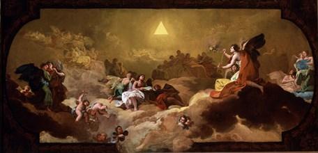 Goya, Adoration du nom de Dieu par les anges - esquisse pour le petit choeur