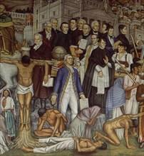 O'Gorman, L'Indépendance du Mexique (détail)