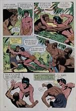 Page illustrée d'un comics de Tarzan