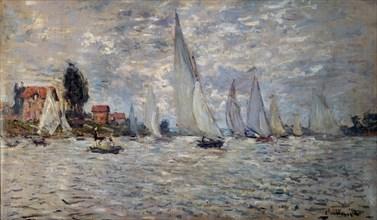 Monet, Les Barques. Régates à Argenteuil
