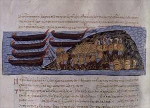 Skylitzès, Arabes combattant les Byzantins en Crète