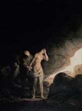 Goya, Brigand dépouillant une femme ou Attaque des Brigands II