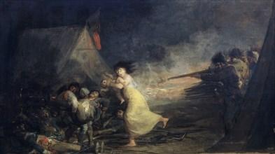 Goya, Fusillade dans un camp militaire
