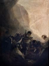 Goya, Brigands fusillant ses prisonniers ou L'Assaut des Brigands I