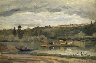 Pissarro, Bac à la Varenne-Saint-Hilaire